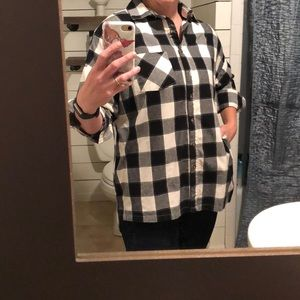 Plaid Button Down  Like New!